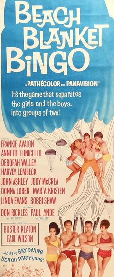 Beach Blanket Bingo (1965) Original Insert Movie Poster