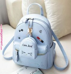 MLITDIS Lovely Mini Women School Bags For Teenagers Korean Style Rugzak Vrouwen Leather Backpack Women Rucksack Mochilas Mujer Cute Mini Backpacks, Stylish Backpacks, Girl Backpacks, Kawaii Bags, Back Bag, Cute Purses, Cheap Purses, Cheap Bags, Purses And Handbags