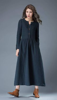 This navy blue summer dress has timeless appeal. Wear your hair in loose waves, add chunky jewelry and gladiator sandals for a more boho style. Equally, this dress would look great with court shoes, a clutch handbag and a chunky belt for wearing to the office. This is a very versatile dress