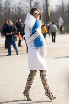 ADR in Pucci boots, scarf on Milan Fashion Weeks, New York Fashion, Paris Fashion, Fur Fashion, Winter Fashion, Womens Fashion, French Fashion, Fashion Beauty, Anna Dello Russo