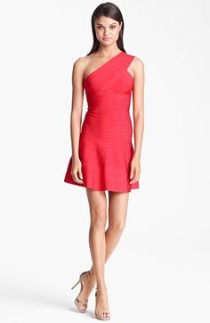 one-shoulder A-line dress