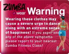 Zumbawear Warning