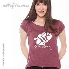 Barcelona map T-shirt | By ailofiu tees