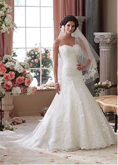 Fabulous Tulle & Satin Sweetheart Neckline Natural Waistline A-line Wedding Dress
