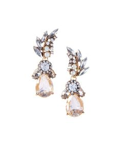 Look what I found on #zulily! Champagne Pear-Cut Drop Earrings #zulilyfinds