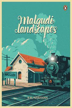 / malgudinlandscapes / book cover / via behance / ranganat krishnamani /
