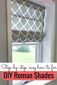 diy roman shades no sew . diy roman shades from mini blinds . diy roman shades no sew easy . diy roman shades with dowels . diy roman shades no sew tension rods Large Window Treatments, Kitchen Window Treatments, Diy Roman Shades, Diy Roman Blinds, Diy Window Shades, Blinds Diy, Fabric Blinds, Mini Blinds, Bathroom Windows