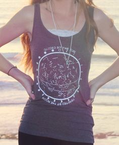 Star Chart Constellation Tank Top // Astrology Moon by Clarafornia