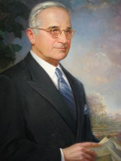 Harry S. Truman Presidential Portrait by Greta Kempton,