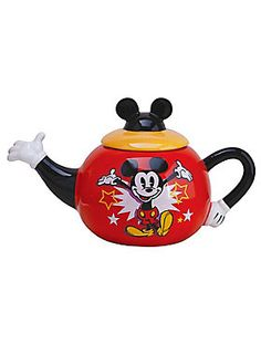 """<p>""""I only hope that we don't lose sight of one thing, that it was all started by a mouse."""" - Walt Disney It's tea time!</p>  <p>Start your tea time with the one and only Mickey Mouse. This teapot features a Mickey hands design and a vintage image of Mickey.</p>  <ul> <li>Ceramic</li> <li>26 oz.</li> <li>Imported</li> </ul>"""