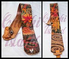 Correas de guitarra realizadas en piel y pintadas a mano. Diseños personalizados.  https://www.facebook.com/ChachiIslandArtDesign