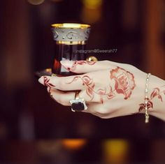 arab, henna, and tea image                                                                                                                                                     More