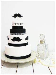 "Gay Wedding Cake ""Moustache"" by Sweetmama."