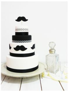 "Gay Wedding Cake ""Moustache"" by Sweetmama."
