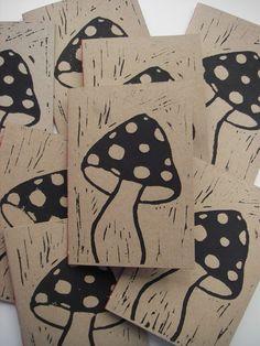 linocut print by Michigan artist Rick Kolb