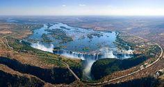 Cataratas Vitória, na África (foto: AirPano/Divulgação) - Fornecido por Viagem em Pauta