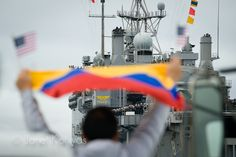 Welcome Home USS Dubuque, San Diego, California.