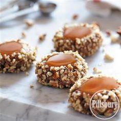 Chocolate Caramel Thumbprint Cookies from Pillsbury® Baking