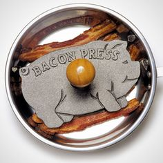 Cast Iron Pig Bacon Grill Press | 20 Animal Cooking Gadgets