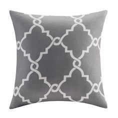 Saratoga Fretwork Print  BlendThrow Pillow