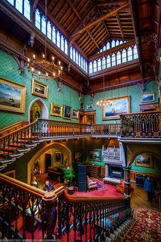 Tyntesfield, a Victorian Gothic Revival house and estate in North Somerset, England. Victorian Interiors, Victorian Design, Victorian Decor, Victorian Architecture, Beautiful Architecture, Victorian Gothic, Victorian Homes, North Somerset, Somerset England