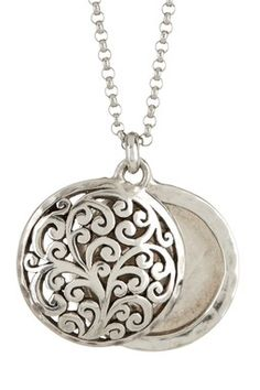 Sterling Silver Signature Cutout Open Locket Necklace