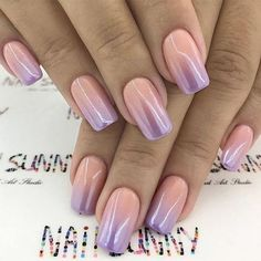 Nail Trends: See the Top Nail Trends for Fall 2019 - Summer Nail Colors Ideen Ombre Nail Colors, Ombre Nail Designs, Colorful Nail Designs, Fall Nail Colors, Fall Nail Designs, Pink Nails, Gel Nails, Sparkle Nails, Nail Shapes Squoval