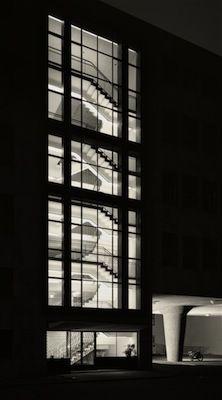 Karl Hugo Schmölz, Funkhaus Köln (NWDR), Privatstraße bei Nacht, 1952/2014