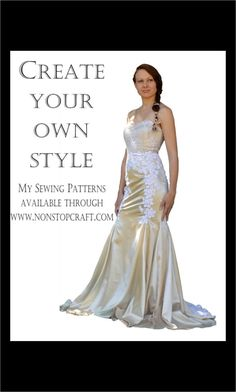 Our first bridal gown sewing pattern to be launched!This trumpet style gown is classic and stylish and loved by brides all around the world. Trumpet, Formal Dresses, Wedding Dresses, Dress Ideas, Bridal Gowns, Style Me, Sewing Patterns, Mermaid, Bride