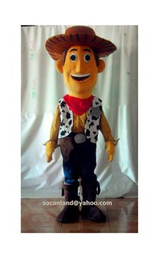 Woody Cowboy Cartoon Mascot by cartoonmascotcostume on Etsy