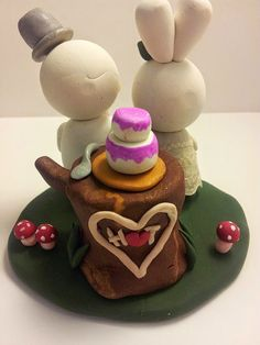 Bunny Duck Wedding Cake Topper Custom By BlushandSparkle