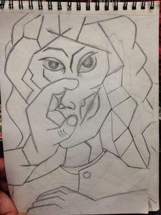 Dibujo cubista