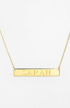Jane Basch Designs Personalized Bar Pendant Necklace available at #Nordstrom