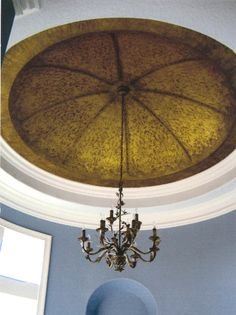 Venetian Plaster through lace on a Dome