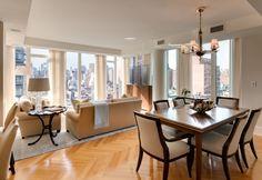 Elegant Small Living Room Dining Room Combination