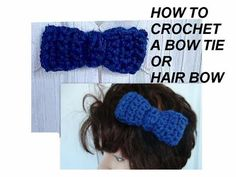 How to crochet a bow tie, men, women, baby, boys, hair bow, barrette