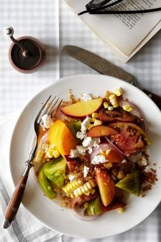 This simple salad from chef Johnny Monis via the WSJ is so simple and unbelievably good with ripe summer produce