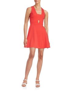 <ul><li>Cutout dress with textured…