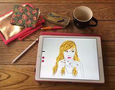 BrownPaperBunny-iPad-Pro-Drawing