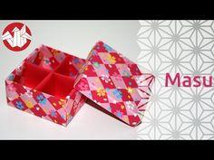 Origami - Boite Japonaise à Compartiments: Masu (HD) [Senbazuru] - YouTube