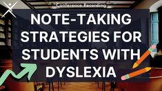 Dyslexia Conference Recording | Note-Taking Strategies for Students with Dyslexia - YouTube High School Organization, Note Taking Strategies, Education Humor, Organic Chemistry, Learning Disabilities, Dyslexia, Design Quotes, Study Tips, Conference