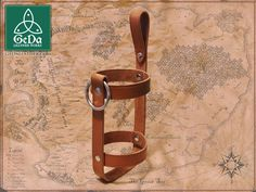 Leather sheath Items similar to Genuine leather Bottle Holder for belt, useful to medieval represent Wide Leather Belt, Leather Apron, Small Leather Goods, Leather Pouch, Leather Tooling, Homemade Motorcycle, Holster, Leather Bicycle, Pouch Pattern