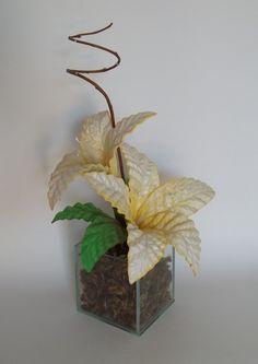 Arranjo de Flores em Eva - Lírios