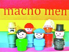 """Macho Men"" Fisher Price people Poster"
