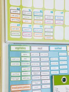 quadro magnético para cardápio e lista de compras
