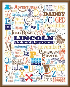Customized Alphabet Art for Nursery or Child's by PeaPatchDesigns1