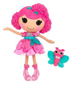 Much loved as a Mini, #Lalaloopsy Rosebud Longstem will soon be released as a full sized doll! She was sewn from a rose and loves to look pretty. She has a pet butterfly and her sewn on date is January 1st.