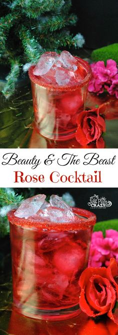 The Beauty and The Beast Rose Cocktail Recipe is perfect for your viewing party and will be coming out on on Digital HD, DVD, Blu-ray and DMA on June 6th. #cocktailrecipes