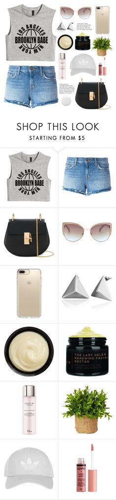 """""""City Girls"""" by belleshines ❤ liked on Polyvore featuring J Brand, Chloé, Speck, Grown Alchemist, Christian Dior, Topshop and Charlotte Russe"""
