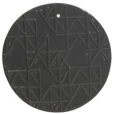 Ozdoba ścienna ceramiczna, szary